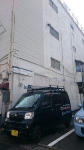 このビルの4階排水つまり修理
